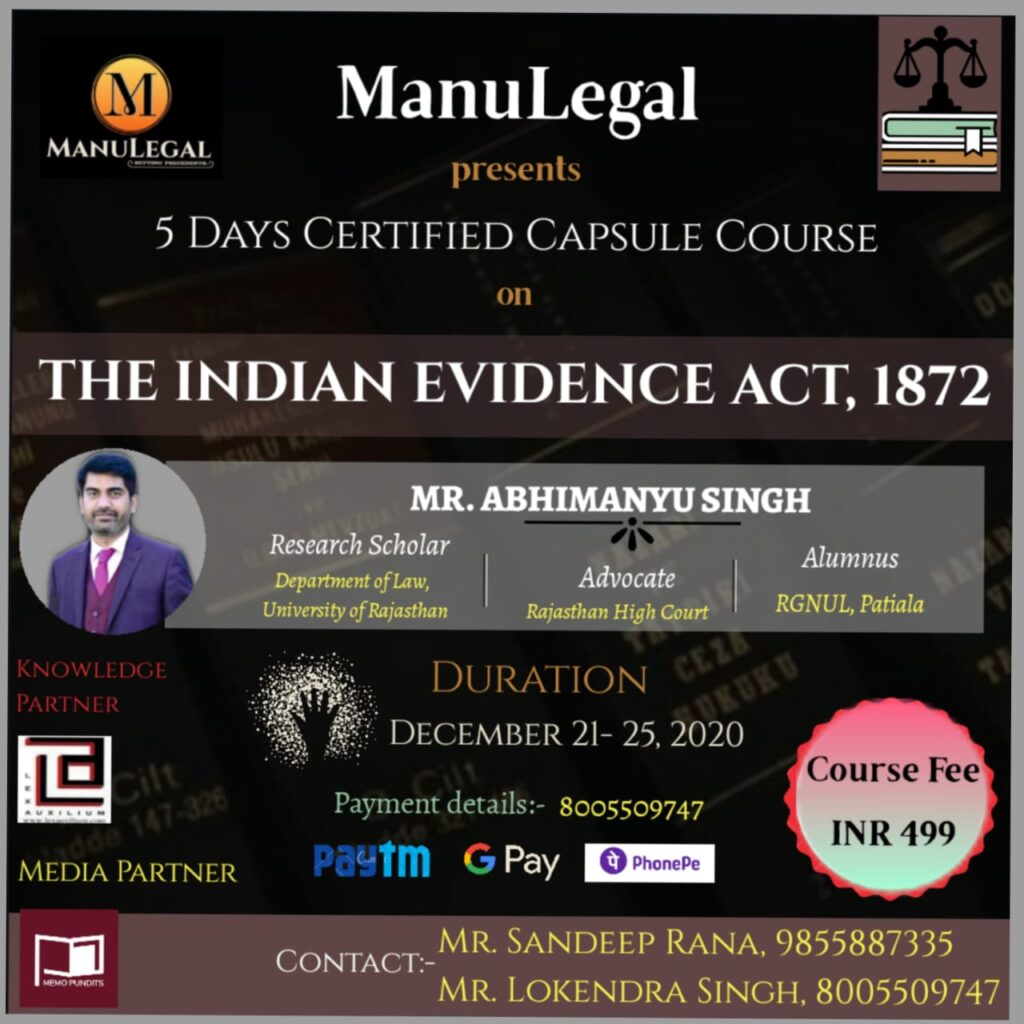 COURSE-ON-INDIAN-EVIDENCE-ACT-1872-manulegal